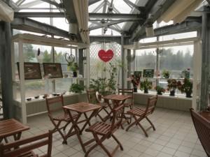 温室休憩室のハート
